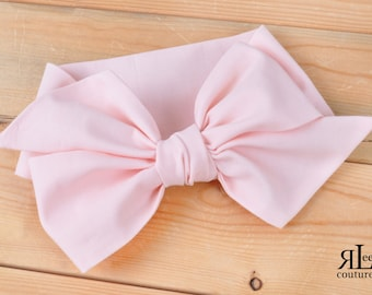 Peach Headwrap - Bow Headwrap -  Head Wrap - Baby Headwrap - Peach Hair Bow