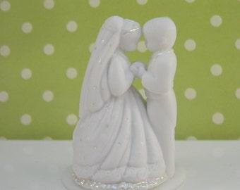 Rare Precious Moment Bride and Groom Cake Topper