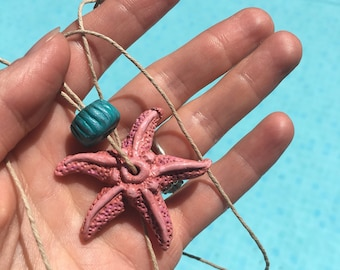 Hand sculpted starfish necklace