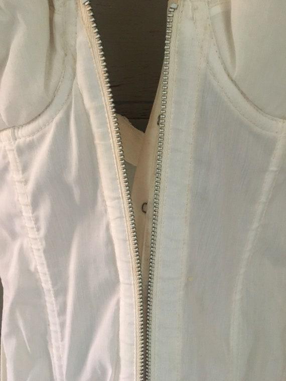 Vintage lace bustier / corset / garter lingerie - image 4