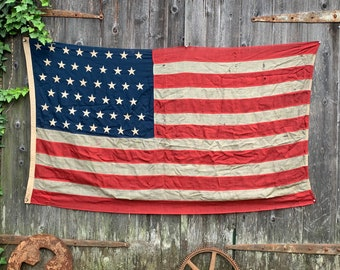 Antique American Flag c1896 wool. Hard to find. Perfect wall hanging