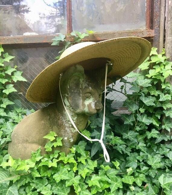 Vintage wide-brim straw hat