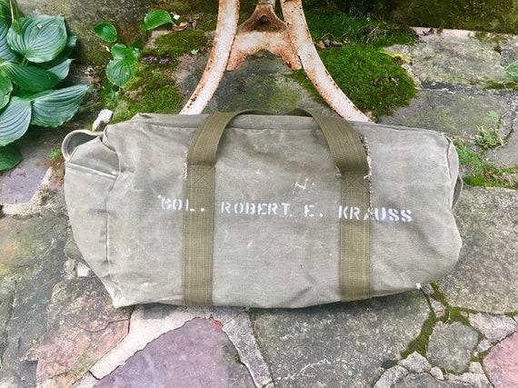 1960s military army duffel bag