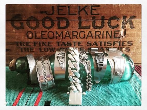 Heavy sterling Cuban link chain bracelet