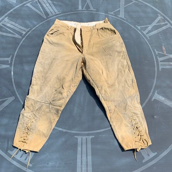 Vintage 1930's jodhpurs duck pants cotton JC Higgi