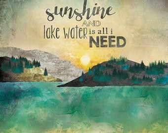 MA2059 - Sunshine and Lake Water - 12 x 12