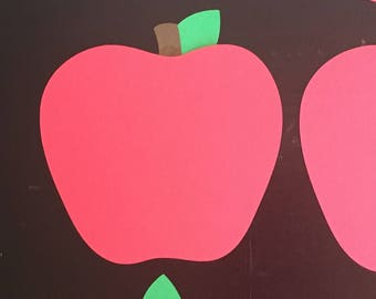 Red Apples Die Cuts - set of 20