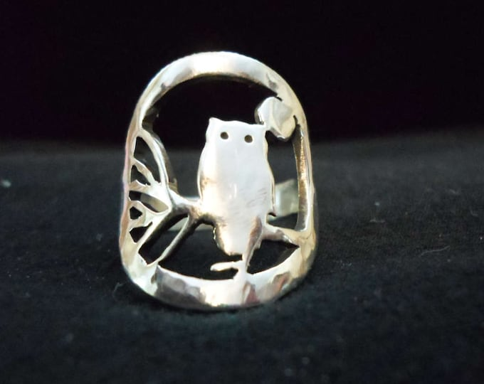 owl ring quarter size