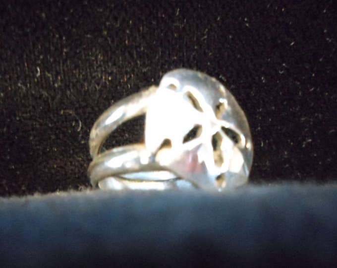 sand dollar ring double band quarter size