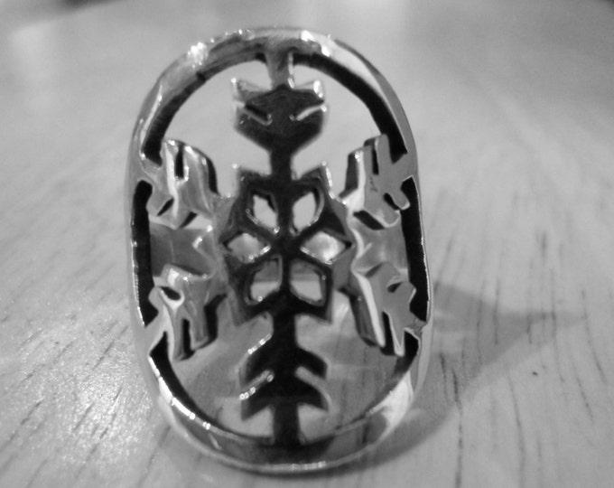 Snowflake ring quarter size