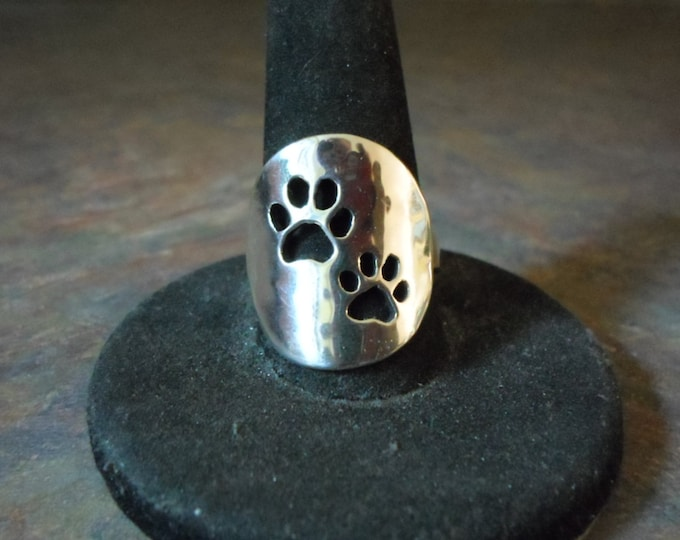 2 dog paw ring dime size