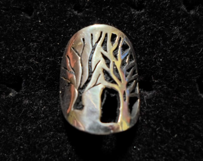 Double Tree of Life Ring Quarter Size