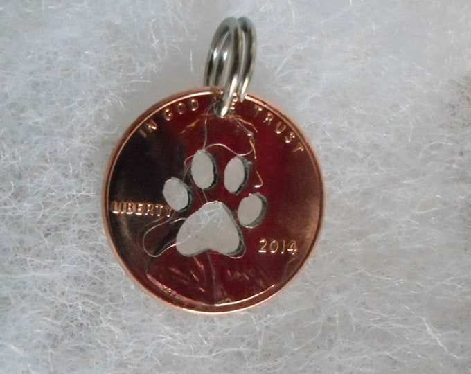 Dog paw charm w/any date 2018 thru 1950
