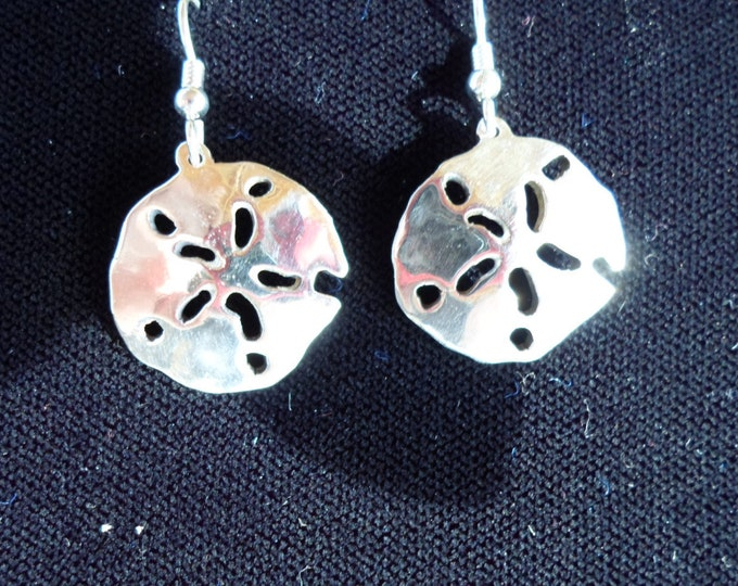 sanddollar earrings dime size