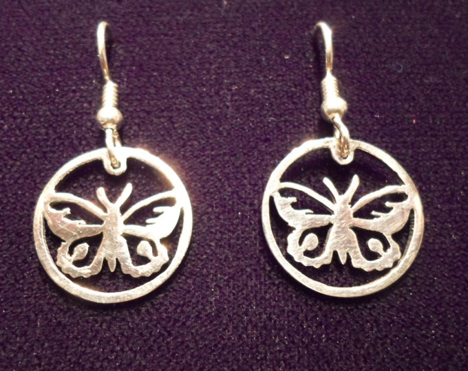 butterfly earrings dime size