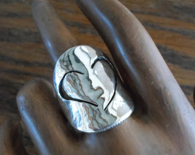 Heart Ring quarter size