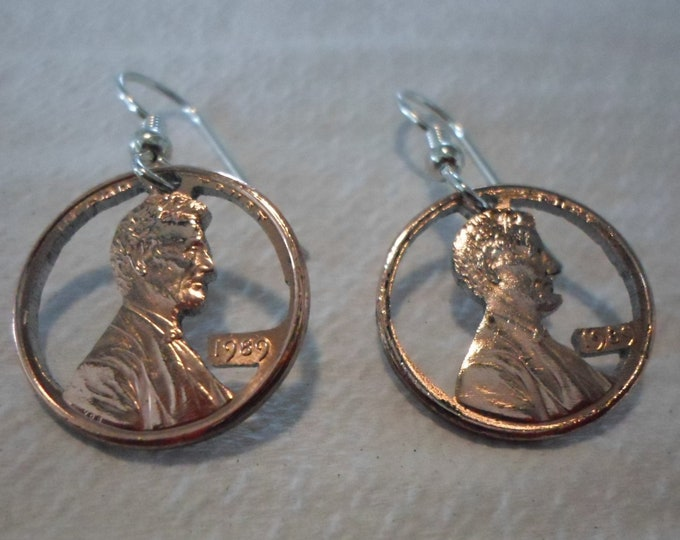 Birth Year Penny earrings w/sterling silver ear wires 2018 thru 1950