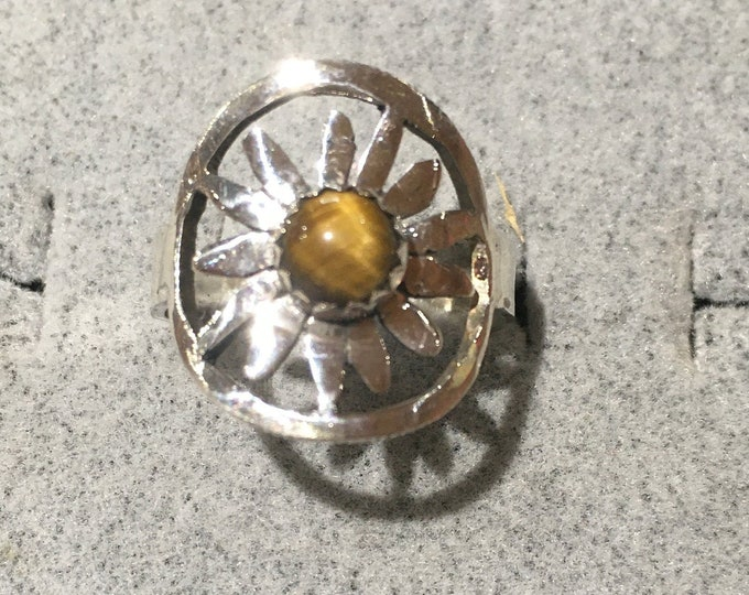 Black eye Susan ring w/tiger eye