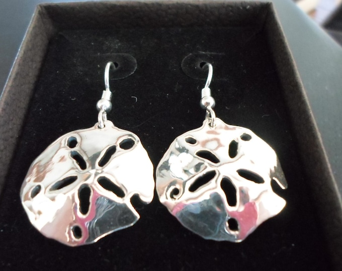 Sand dollar earrings  quarter size