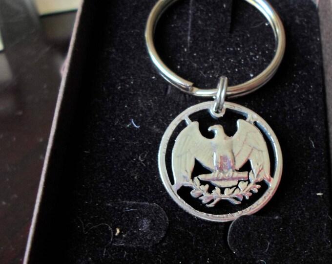 Washington quarter eagle key ring