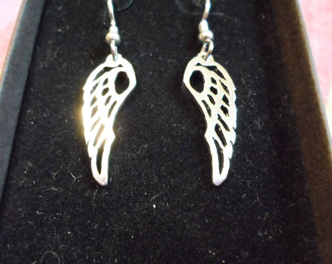 Angel wing earrings quarter size