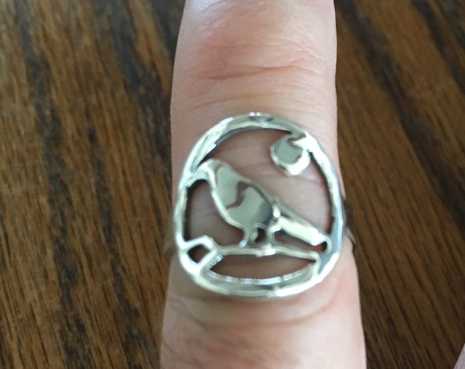 Raven ring sterling silver by mountain man