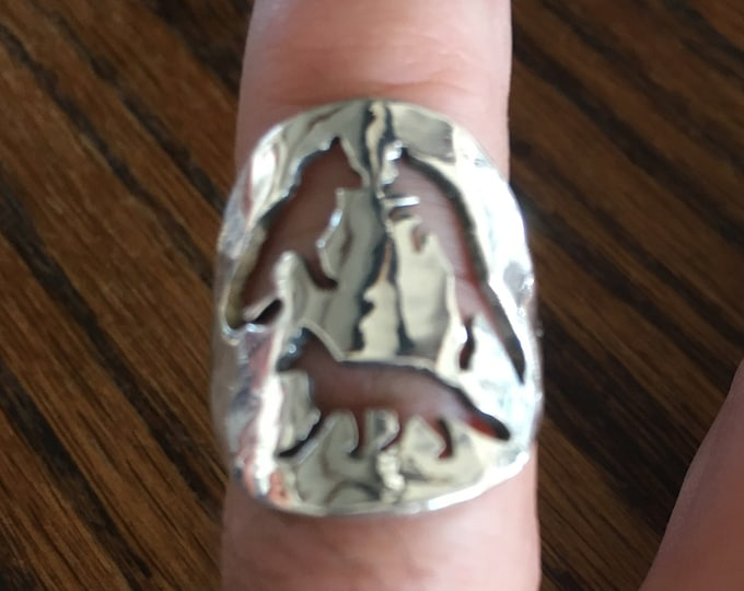 3 Fox ring quarter size by mountain man