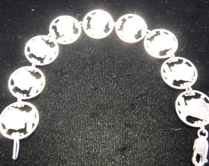 Mercury dime bracelet 9 dimes