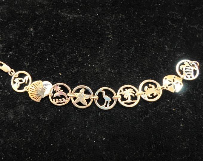 Beach bracelet 9 dimes