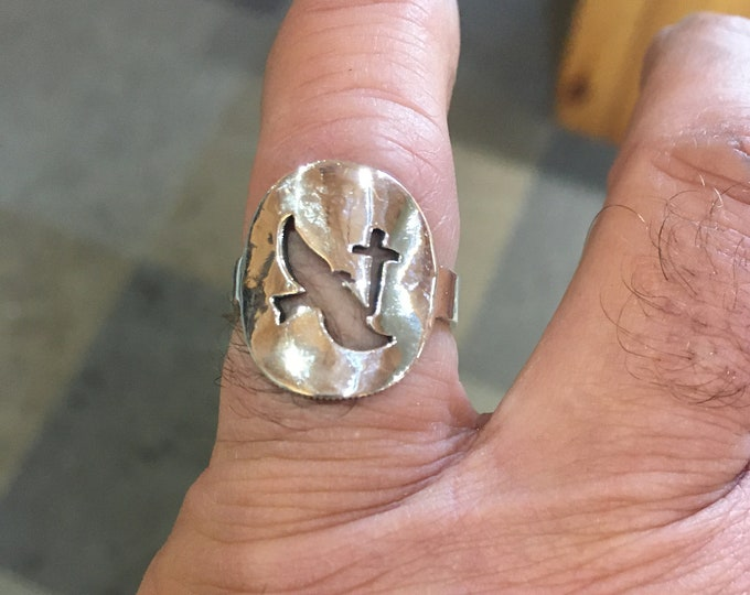 Holy Spirt ring sterling silver