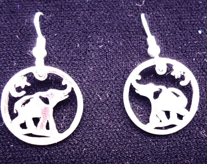 elephant earrings dime size
