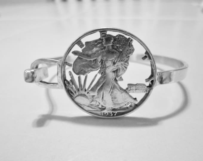 walking liberty half dollar bangle