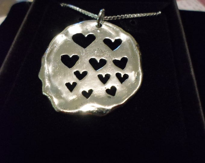 Love explosion necklace w/sterling silver chain