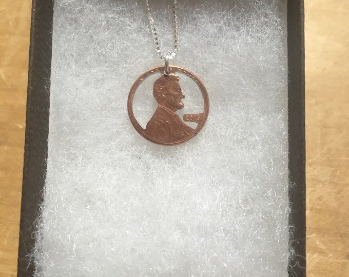 Penny necklace w/sterling silver chain