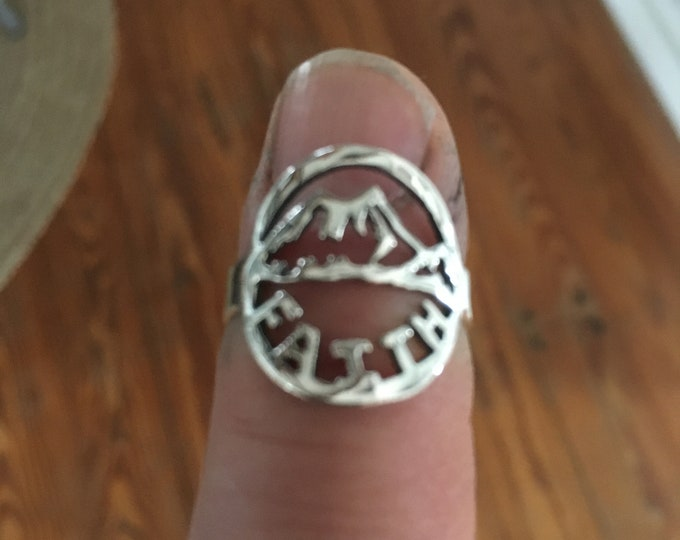 Faith moves mountains ring sterling silver original by mountain man