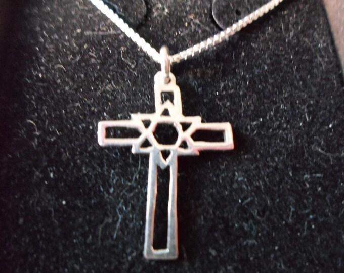 cross w/star of David w/sterling silver chain