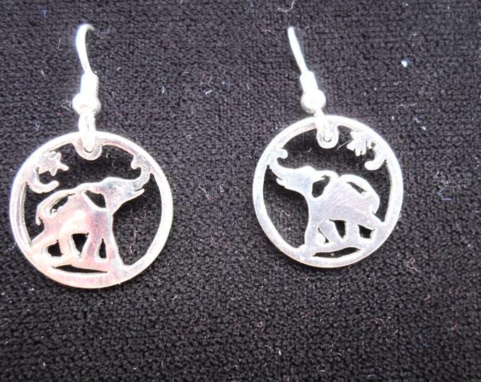 elephant earrings dime size
