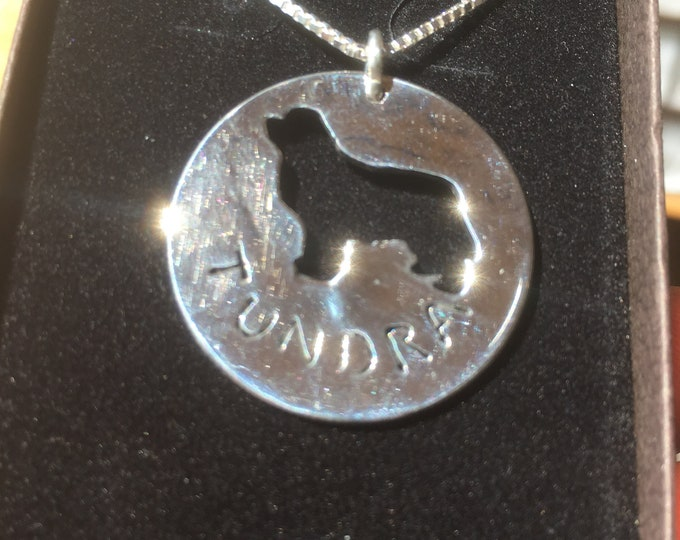 Newfoundland or any dog breed w/sterling silver chain