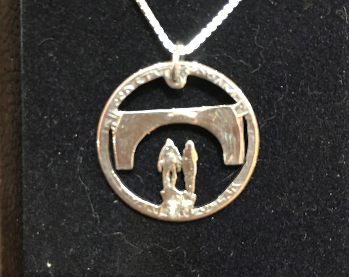 Walking under the bridge with sterling silver chain by mountainman