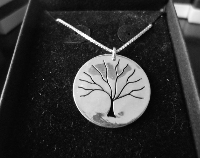 Tree of Life Dime size w/ sterling silver chain