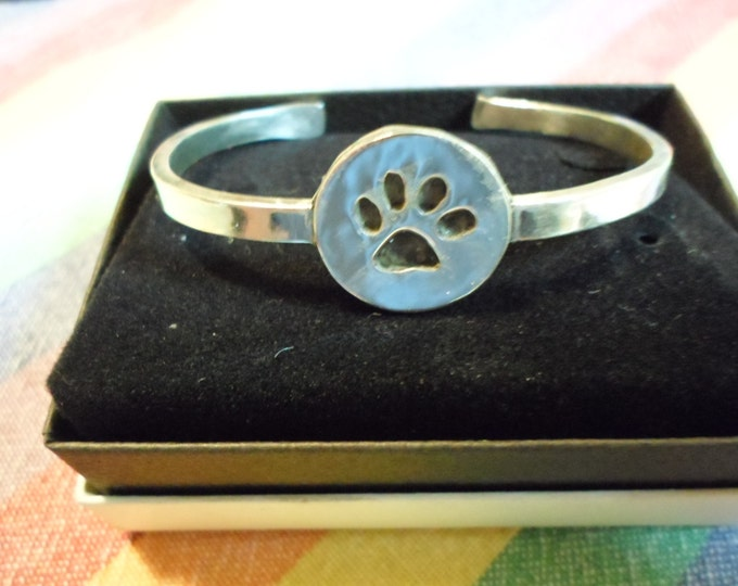 dog paw cuff bracelet dime size