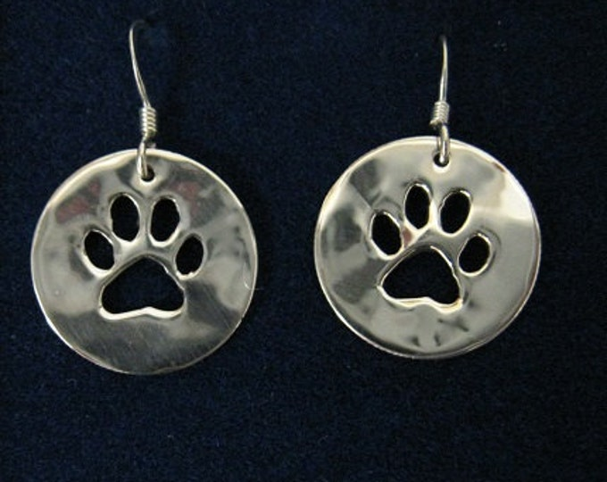 Paw Print earrings made from US Silver Dimes