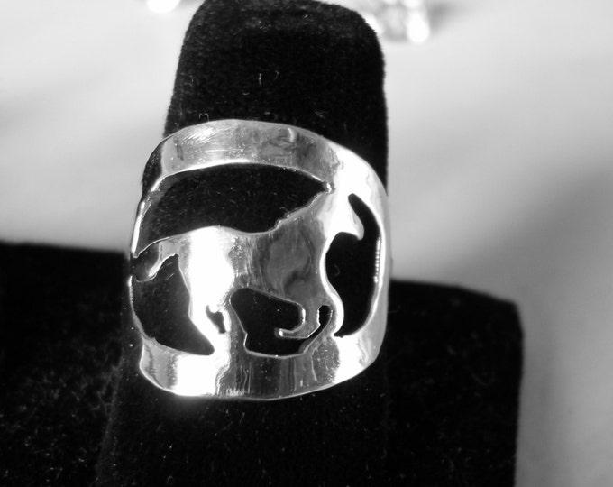 Horse ring quarter size