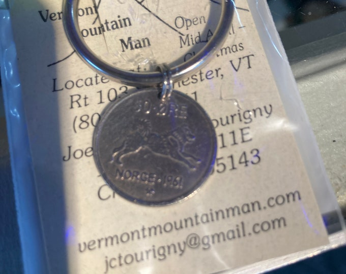 Norway husky coin charm or key ring