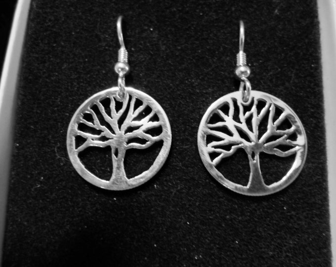 Tree of life earrings dime size