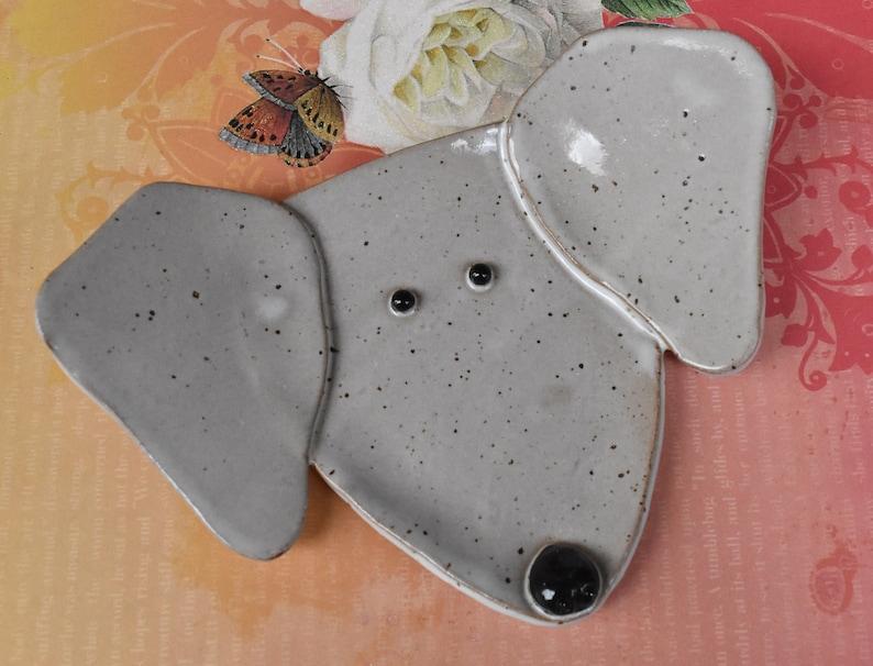 White Lab spoon rest Dog ring holder Weimaraner ceramic jewelry holder Dog spoon rest Dog plate Handmade dog plate. Labrador dog dish