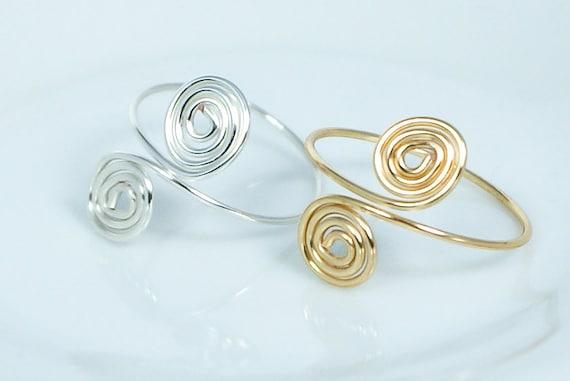 Spirale Ring in Gold oder Silber spiral Ring Zehe Ring | Etsy