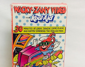 Vintage Kool-Aid VHS Tape, Kool-Aid Video, Promotional Mail Away VHS, Wacky-Zany Video, Kool-Aid Man, Vintage Collectible 1990s Pop Culture