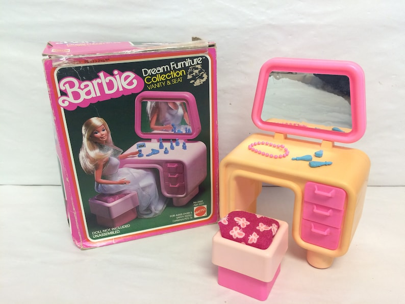 74973300ec4 Vintage Barbie Furniture Dream Furniture Collection Vanity