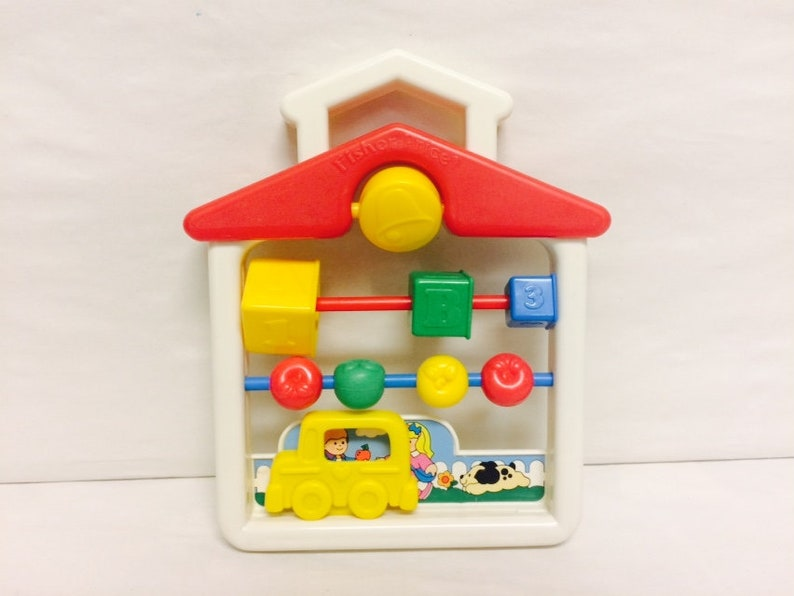 b642d6381353 Vintage Fisher Price Activity Center Discovery Beads School
